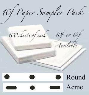 """*10f  Sampler Pack LGE (8 1/2""""x11"""" Paper) 300 sheets"""