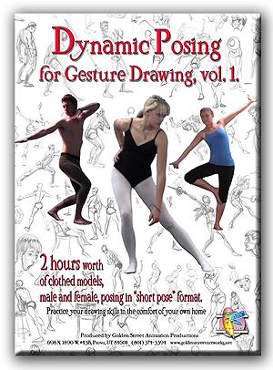 Dynamic Posing for Gesture Drawing, vol. 1