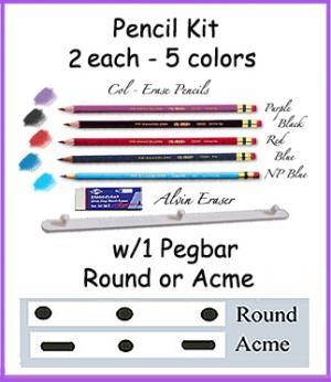 *PENCIL KIT w/ Pegbar & Eraser