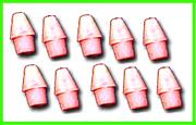 Ruby Pencil Cap Erasers (10 pack)