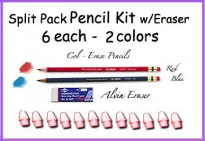 *Split Pack PENCIL KIT w/Erasers