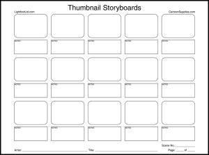 Pro Series Thumbnail Storyboards (100 Shts)