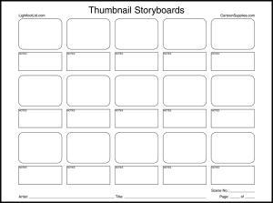 Pro Series Thumbnail Storyboards (50 Shts)