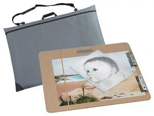 Lightweight Drawing BOARD w/Clips & Carrying Case