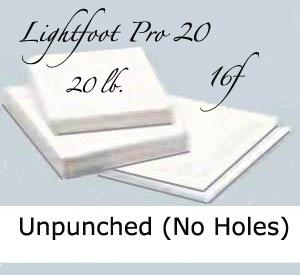"16f Lightfoot Pro 20 lb. 12""X17"" Unpunched"
