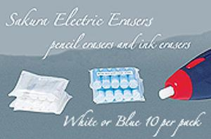 SAKURA®  ELECTRIC ERASER REPLACEMENTS (only 7 left of each)