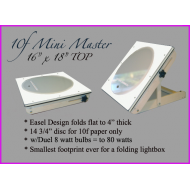 "Jr. Easel Design 10f Lightbox w/14"" Disc (florescent bulbs)"