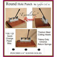"""Excalibur""  ROUND PUNCH - 1/4"" Round Holes (18 Left)"