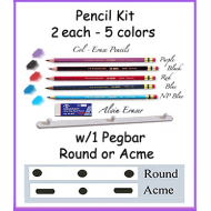 *Pencil Kit w/ Pegbar & Eraser