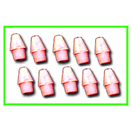Ruby Pencil Cap Erasers 10 pack