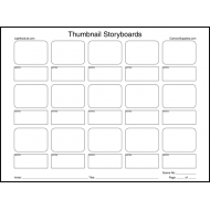 Pro Series Thumbnail Storyboards 50 Shts