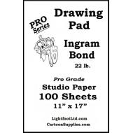 Ingram Bond  22 lb. Pro Grade  Drawing  Pad ....  11 X 17
