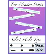 "*Reuseable - 12f Pro Header Strips (Standard Size) 12.5"" x 1.5"""