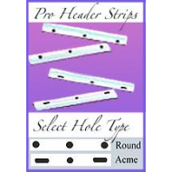*Reuseable - 10f Pro Header Strips (Shorter Size for 10f Papers)