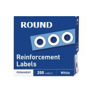 "Hole Reinforcers - 200 ROUND - 1/4"" dia. holes"