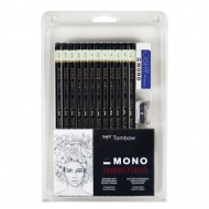 Tombo Combo 12 Pencil Set w/Eraser & Sharpner