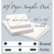 "**10f  Sampler Pack SML (8 1/2""x11"" Paper) 30 sheets"