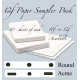 "**12f  Sampler Pack SML (10 1/2"" x 12 1/2"") 30 sheets"