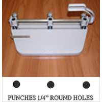 "Round 3-HOLE PUNCH (FOR 1/4"" ROUND PEGBARS)"