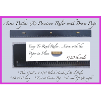 "*""Black Beauty"" Acme Pegbar/Ruler (Ultra Thin)"